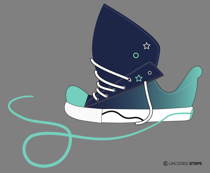 Sneakers funny UncodedSteps footwear design_5