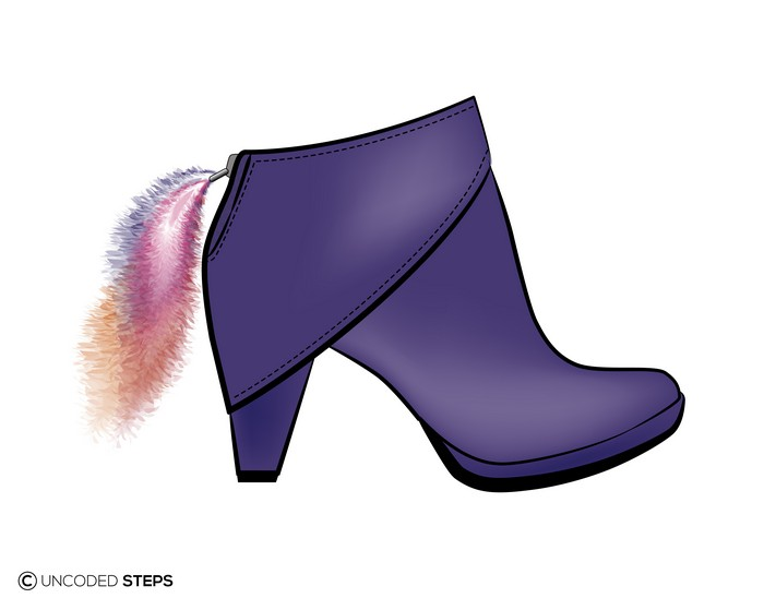 Uncoded-Steps Purple-boot footwear design shelley lewis-